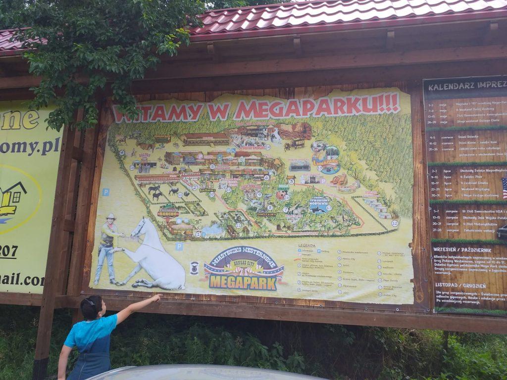 Zdjęcie przedstawia Mapę mega-parku