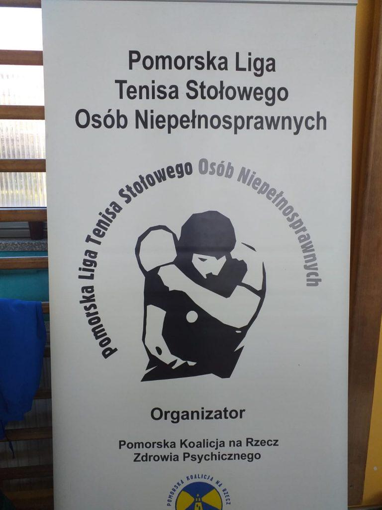 Logo Pomorskiej Ligi Tenisa Stołowego Osób Niepełnosprawnych