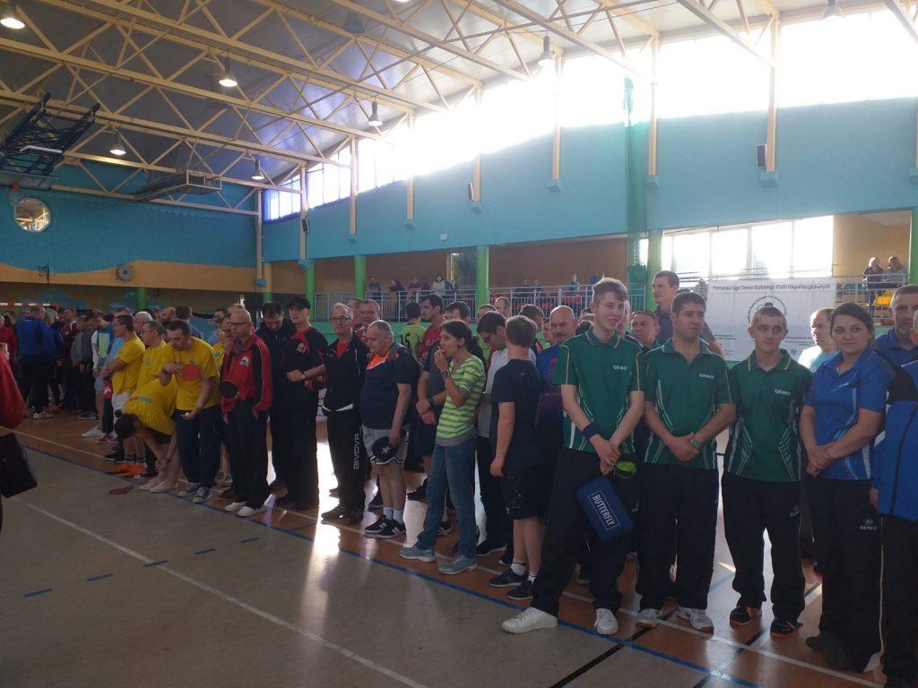 Ujęcie uczestników PLTSON podczas zakończenia turnieju.